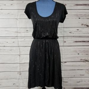 NWT Black Cap Sleeve ROCK&ROLL COWGIRL Dress